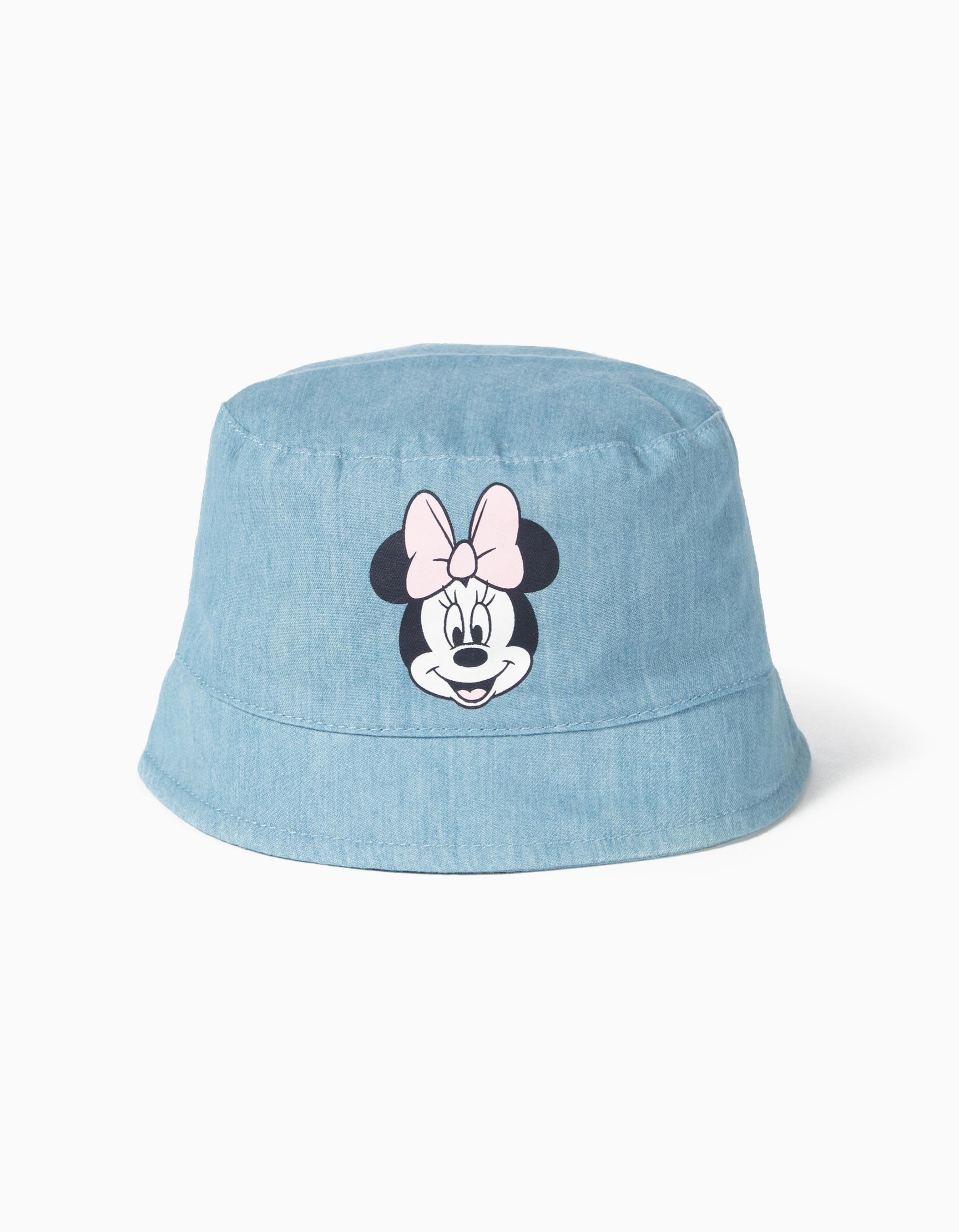 Chapéu Denim para Bebé Menina 'Minnie', Azul Claro