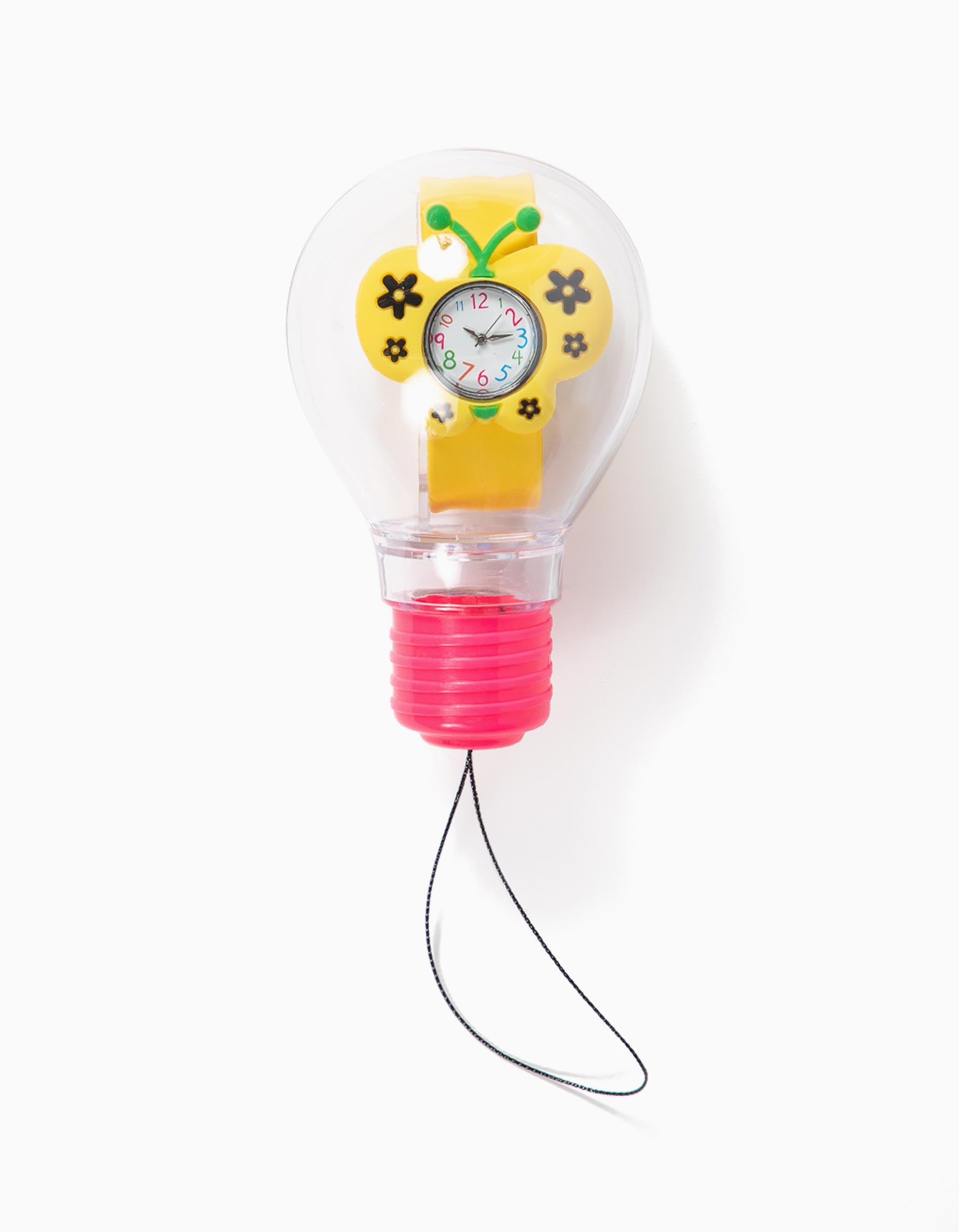 Relógio para Menina 'Butterfly', Amarelo