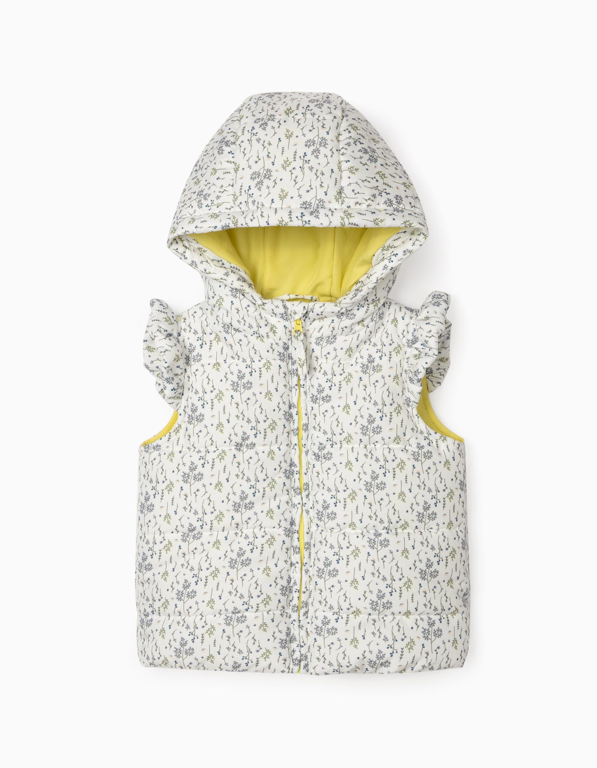 Colete Acolchoado para Bebé Menina, Branco